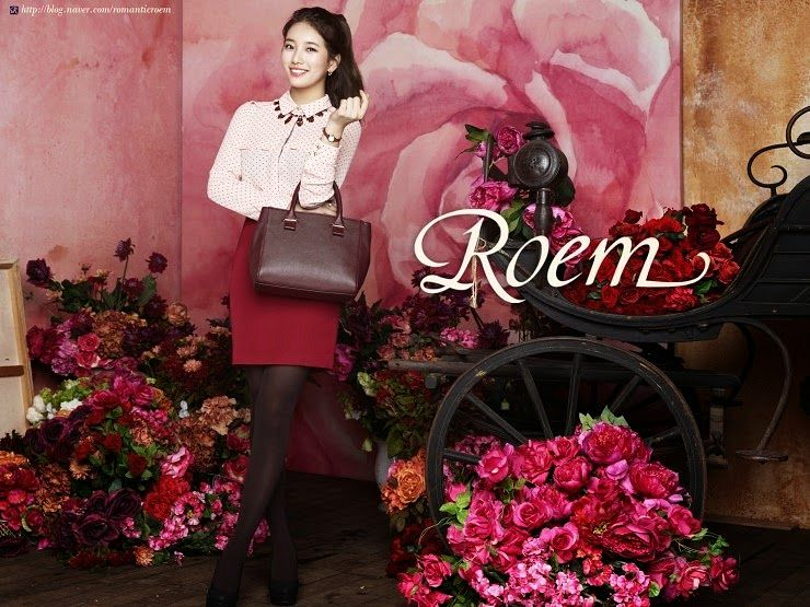 Tags: K-Pop, Miss A, Bae Suzy, Make Up, Ponytail, Bag, Pink Flower, Crossed Legs (Standing), Grin, Pantyhose, Brown Legwear, Necklace