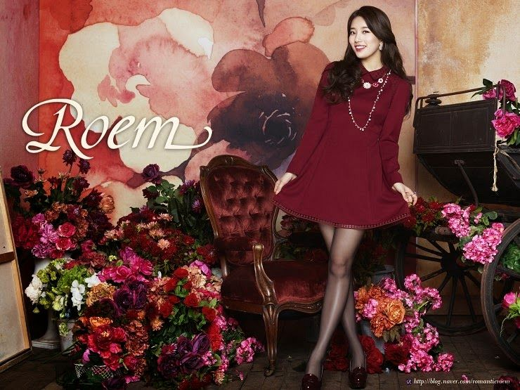 Tags: K-Pop, Miss A, Bae Suzy, Make Up, Purple Flower, Skirt, Red Flower, Pink Flower, Armchair, Chair, Red Outfit, Red Dress