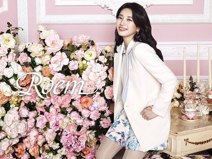 Tags: K-Pop, Miss A, Bae Suzy, Grin, Candelabrum, Skirt, Floral Skirt, Sitting On Table, Flower, Candle, Pink Flower, Floral Print