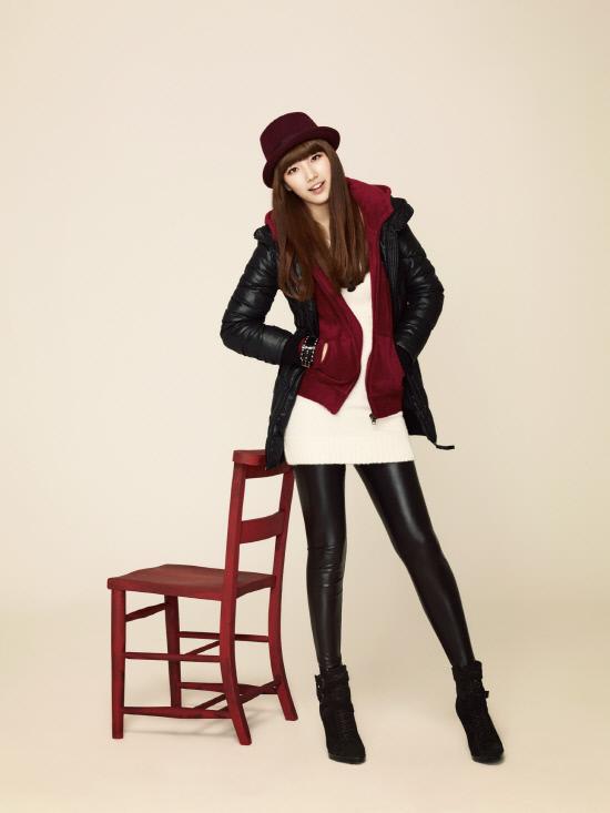 Tags: K-Pop, Miss A, Bae Suzy, Hat, Chair, Hand In Pocket, Head Tilt, Coat, Edwin