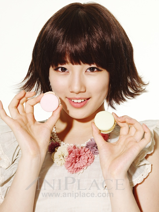 Tags: K-Pop, Miss A, Bae Suzy, Sweets, Make Up, Macaron, Text: URL, Aniplace