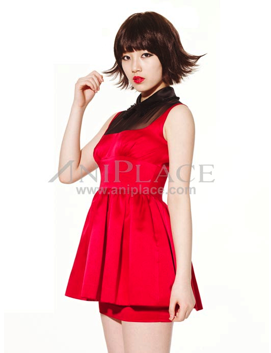 Tags: K-Pop, Miss A, Bae Suzy, Red Dress, Red Lips, Light Background, White Background, Make Up, Red Outfit, Aniplace