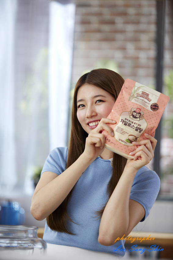 Tags: K-Pop, Miss A, Bae Suzy, Looking Away, Kitchen, Short Sleeves, Blue Shirt, Apron, Xylose