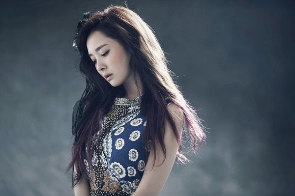 Tags: K-Pop, Dal Shabet, Bae Woo-hee, Dark Background, Eyes Closed, Looking Down, Blue Outfit, Black Background, Blue Dress, Smoke, Joker Is Alive