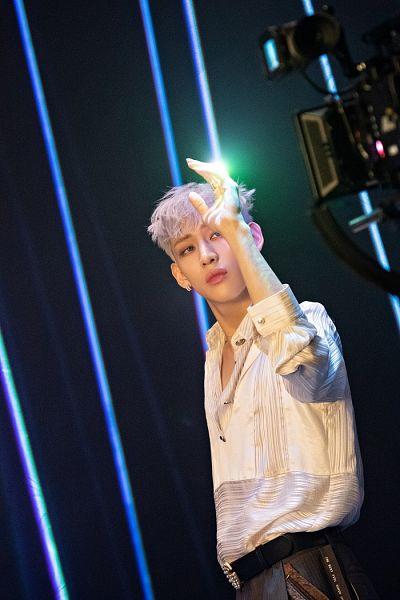 Tags: K-Pop, Got7, BamBam, Belt, White Hair, Serious, Dye