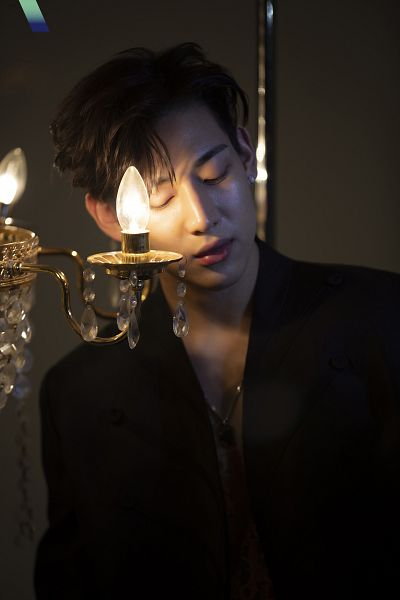 Tags: K-Pop, Got7, BamBam, Chandelier, Looking Down, Black Jacket, VOGUE Korea, Magazine Scan