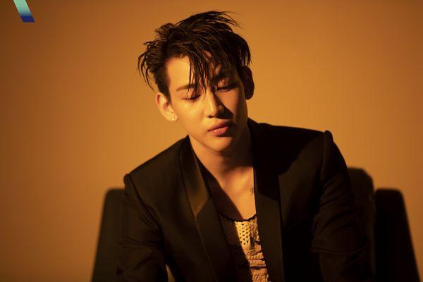 Tags: K-Pop, Got7, BamBam, Brown Background, Looking Down, Serious, Black Jacket, VOGUE Korea, Magazine Scan