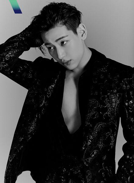 Tags: K-Pop, Got7, BamBam, Open Shirt, Monochrome, Serious