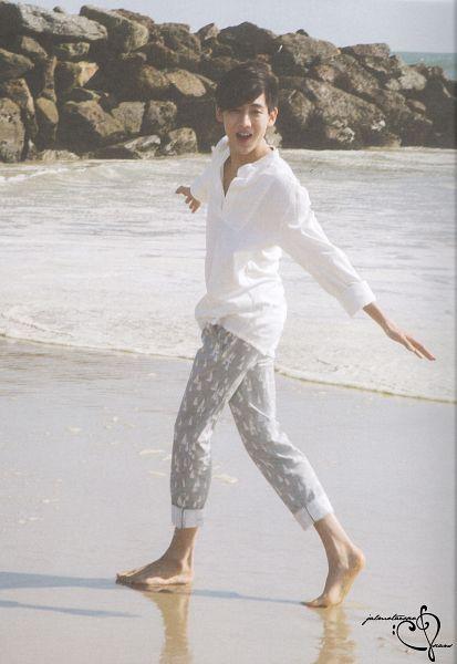 Tags: K-Pop, Got7, BamBam, Water, Walking, Sand, Barefoot, Sea, Outdoors, Beach, GOTCHA 2 Photobook, Scan