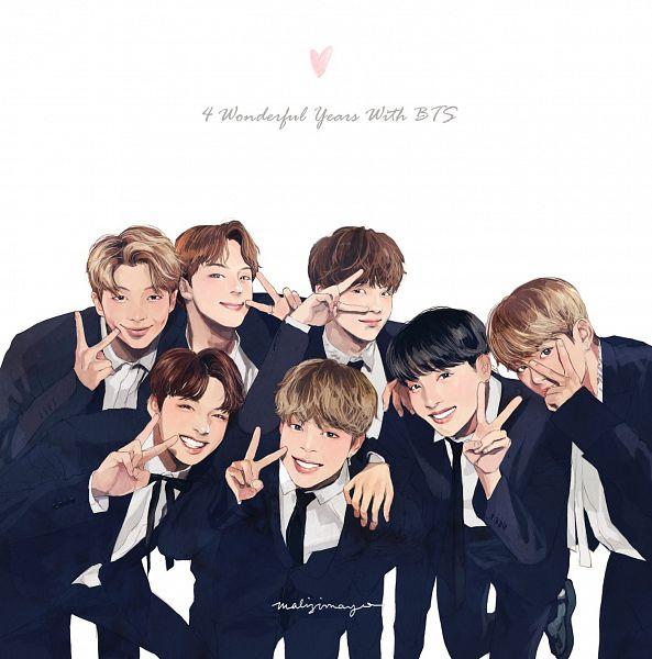 Tags: K-Pop, Bangtan Boys, Park Jimin, J-Hope, Suga, Jungkook, Jin, V (Kim Taehyung), Rap Monster, Suit, Tie, Full Group