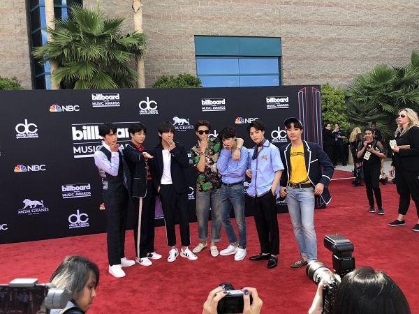 Tags: K-Pop, Bangtan Boys, J-Hope, Suga, Jungkook, Jin, V (Kim Taehyung), Rap Monster, Park Jimin, Watch, Hat, Grin