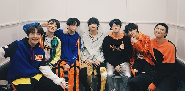 Tags: K-Pop, Bangtan Boys, V (Kim Taehyung), Rap Monster, Park Jimin, J-Hope, Suga, Jungkook, Jin, Closed Mouth, Eyes Closed, Bent Knees
