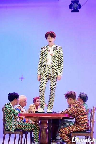 Tags: K-Pop, Bangtan Boys, IDOL (Song), V (Kim Taehyung), Rap Monster, Park Jimin, J-Hope, Suga, Jungkook, Jin, Korean Text, Full Group
