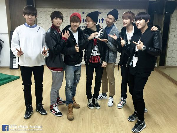 Tags: K-Pop, Bangtan Boys, Jin, V (Kim Taehyung), Rap Monster, Park Jimin, J-Hope, Suga, Jungkook, Red Headwear, Mirror, Black Headwear