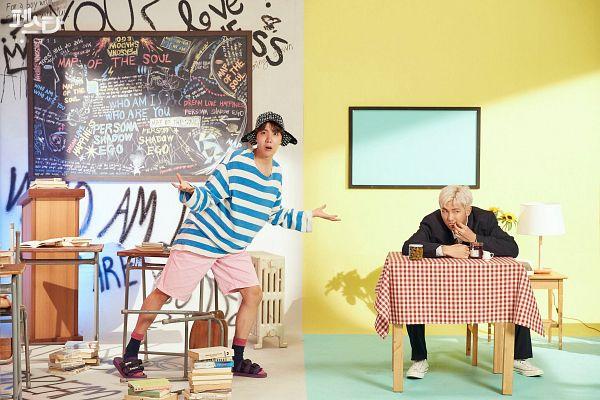 Tags: K-Pop, Bangtan Boys, Daydream, Persona (Song), Rap Monster, J-Hope, English Text, Korean Text, Duo, Two Males, Hope World, 2019 BTS Festa