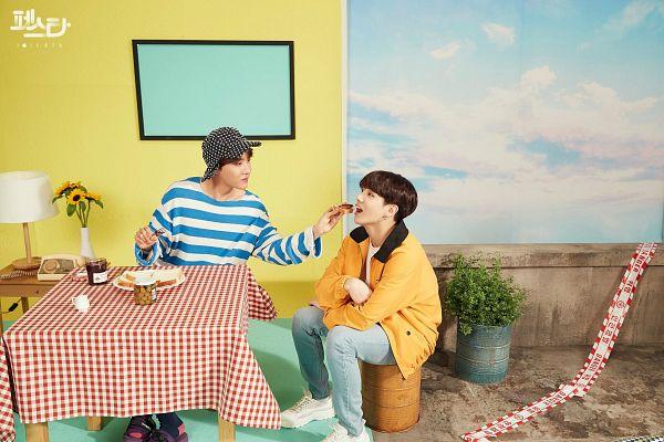 Tags: K-Pop, Bangtan Boys, Daydream, Euphoria, J-Hope, Jungkook, English Text, Korean Text, Duo, Two Males, Facebook, 2019 BTS Festa