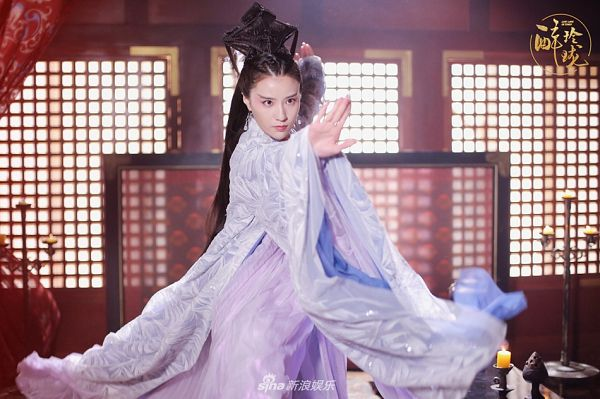 Tags: C-Drama, Bao Tianqi, Chinese Clothes, Chinese Text, Purple Outfit, Curtain, Traditional Clothes, Purple Dress, Candle, Lost Love In Times