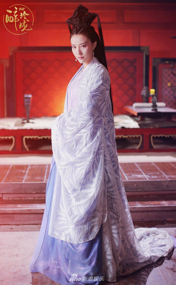 Tags: C-Drama, Bao Tianqi, Purple Outfit, Purple Dress, Traditional Clothes, Candle, Table, Serious, Chinese Clothes, Chinese Text, Lost Love In Times