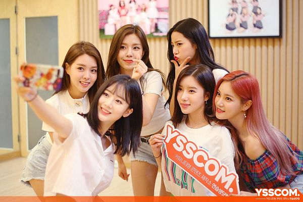 Tags: K-Pop, Berry Good, Seoyul, Gowoon, Taeha, Johyun, Kang Sehyung, Daye, Smartphone, Taking Selca, Grin, Full Group