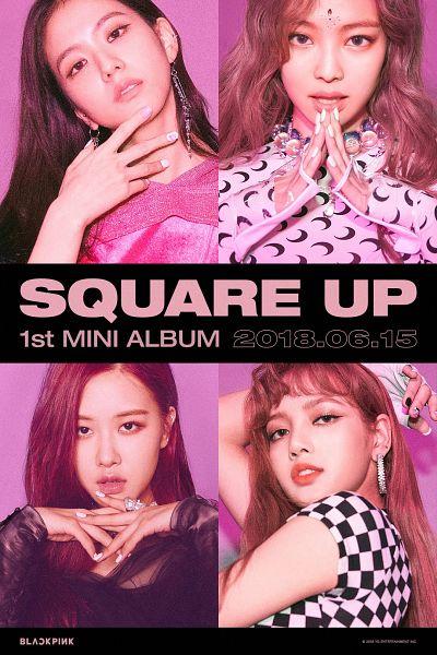 Tags: K-Pop, Black Pink, Jennie Kim, Rosé (singer), Kim Jisoo, Lisa, Ring, Text: Artist Name, Bangs, Text: Album Name, Finger To Lips, Text: Company Name