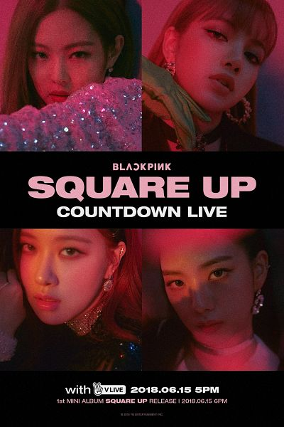 Tags: K-Pop, Black Pink, Kim Jisoo, Lisa, Jennie Kim, Rosé (singer), Text: Company Name, Text: Calendar Date, English Text, Blunt Bangs, Text: Artist Name, Collage