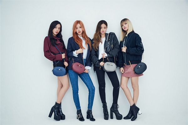Tags: YG Entertainment, K-Pop, Black Pink, Jennie Kim, Rosé (singer), Kim Jisoo, Lisa, Bag, Quartet, Full Group, High Heels, Striped Jacket