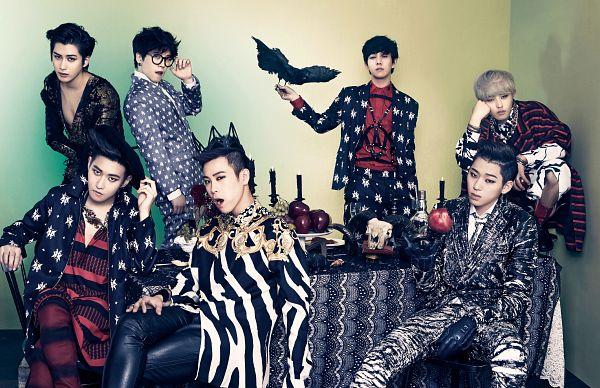Tags: K-Pop, Block B, U-kwon, B-bomb, P.O, Zico, Taeil, Kyung, Jaehyo, Table, Glasses, Fruits