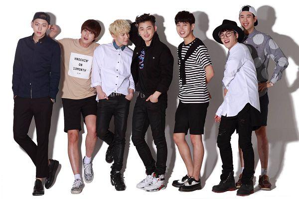 Tags: K-Pop, Block B, Jaehyo, U-kwon, B-bomb, P.O, Zico, Taeil, Kyung, Black Pants, Grin, Short Sleeves