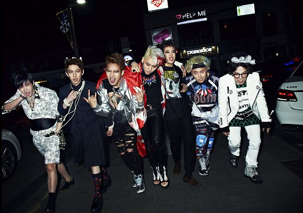 Tags: K-Pop, Block B, Kyung, Jaehyo, U-kwon, B-bomb, P.O, Zico, Taeil, Arm Around Shoulder, Socks, Grin