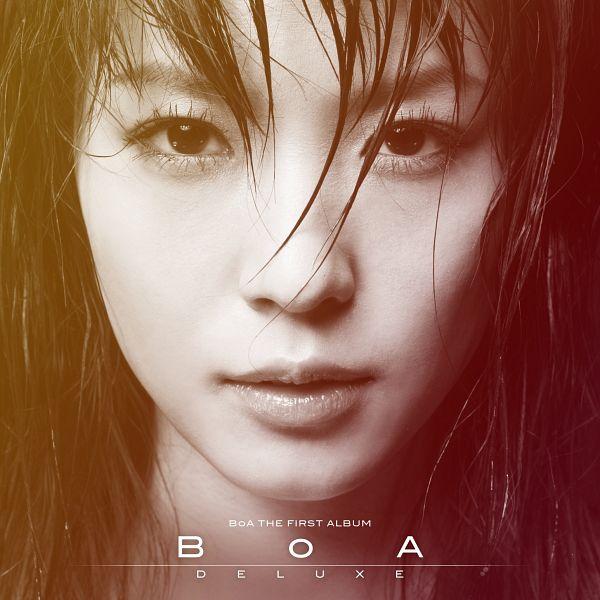 Tags: K-Pop, BoA, Text: Artist Name, Close Up, Text: Album Name, Monochrome, Album Cover