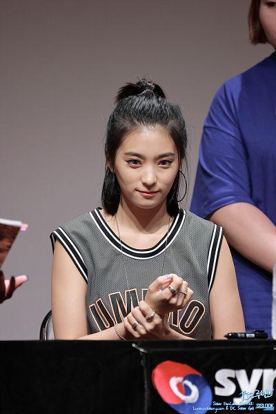 Tags: Starship Entertainment, K-Pop, Sistar, Bora, Close Up, Bracelet, Ponytail, Multi-colored Shirt, Bare Shoulders, Ring, Sleeveless Shirt, Sleeveless