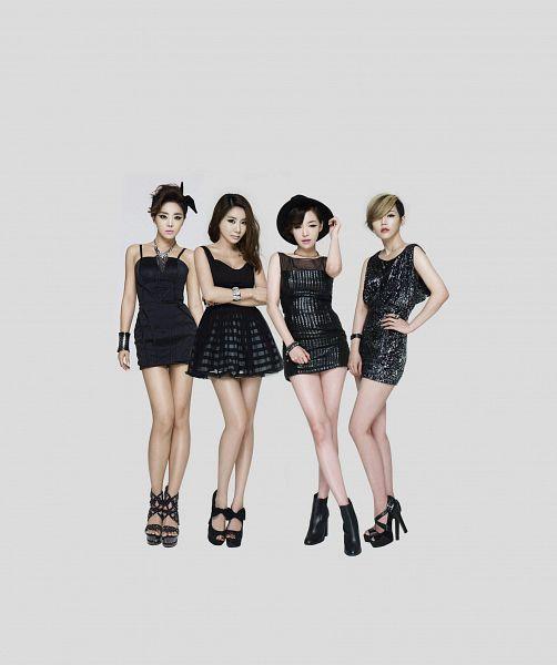 Tags: K-Pop, Brown Eyed Girls, Narsha, Miryo, Jea, Ga-In, High Heels, Full Group, Sleeveless, Crossed Legs (Standing), Hat, Crossed Arms