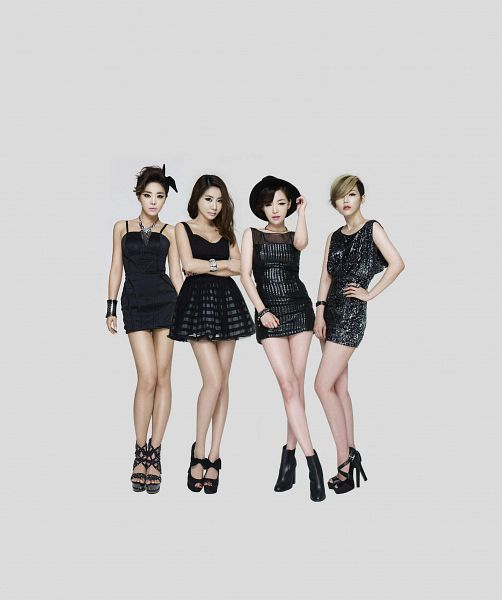 Tags: K-Pop, Brown Eyed Girls, Narsha, Miryo, Jea, Ga-In, Sleeveless Dress, Boots, Blonde Hair, Necklace, Full Group, Black Dress