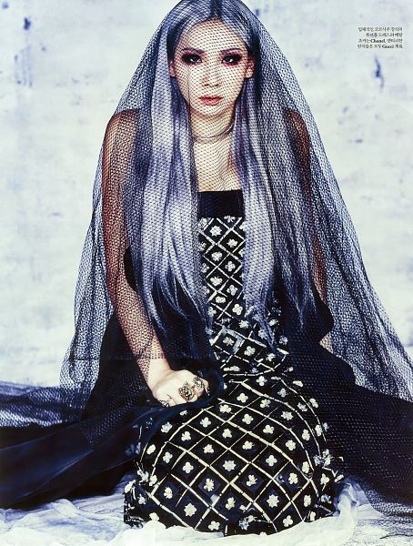 Tags: K-Pop, 2NE1, CL, Gray Hair, Veil, Kneeling, Black Outfit, See Through Clothes, Black Dress, Android/iPhone Wallpaper