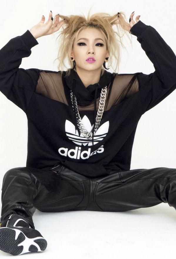 Tags: YG Entertainment, K-Pop, 2NE1, CL, Blonde Hair, Adidas