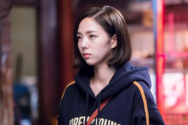 Tags: K-Drama, Chae Soo-bin, Blue Outerwear, Looking Ahead, Medium Hair, I'm Not a Robot