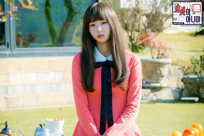 Tags: K-Drama, Chae Soo-bin, Pink Dress, Sad, Korean Text, Pink Outfit, Text: Series Name, I'm Not a Robot