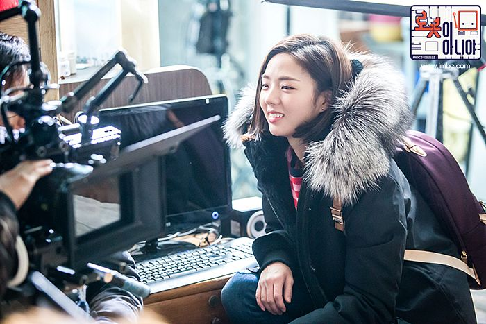 Tags: K-Drama, Chae Soo-bin, Computer, Text: Series Name, Bag, Fur, Korean Text, Fur Trim, Medium Hair, Backpack, I'm Not a Robot