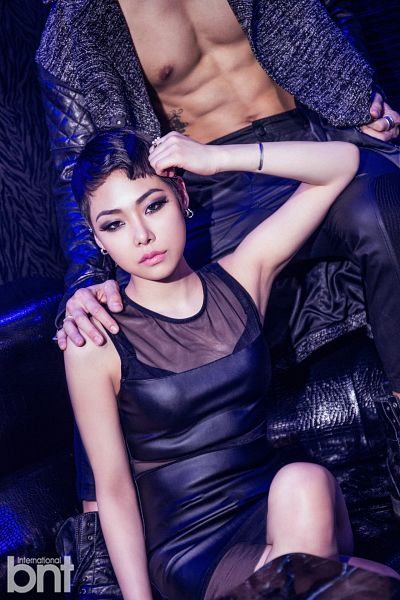 Tags: K-Pop, Cheetah, Black Outfit, Black Dress, Text: Magazine Name, International Bnt, Android/iPhone Wallpaper