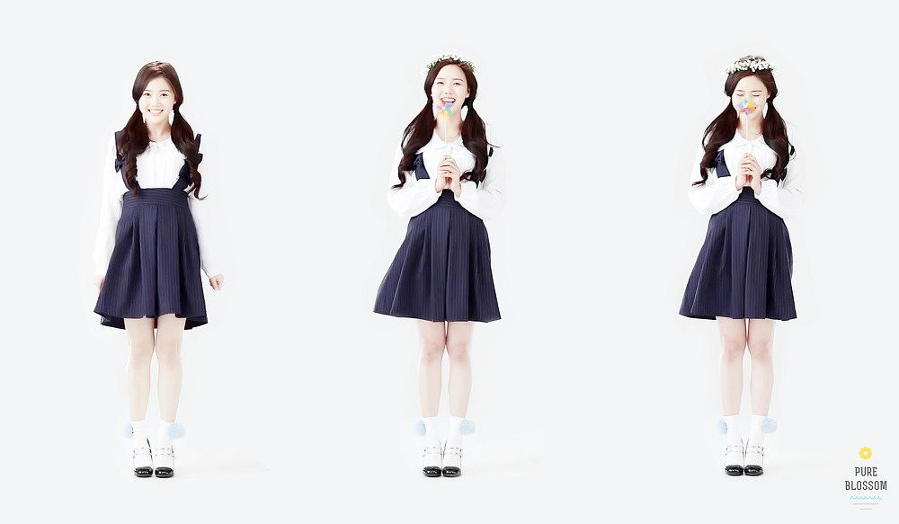 Tags: K-Pop, Oh My Girl, Choi Hyojung, Trio, Three Girls, Light Background, White Background