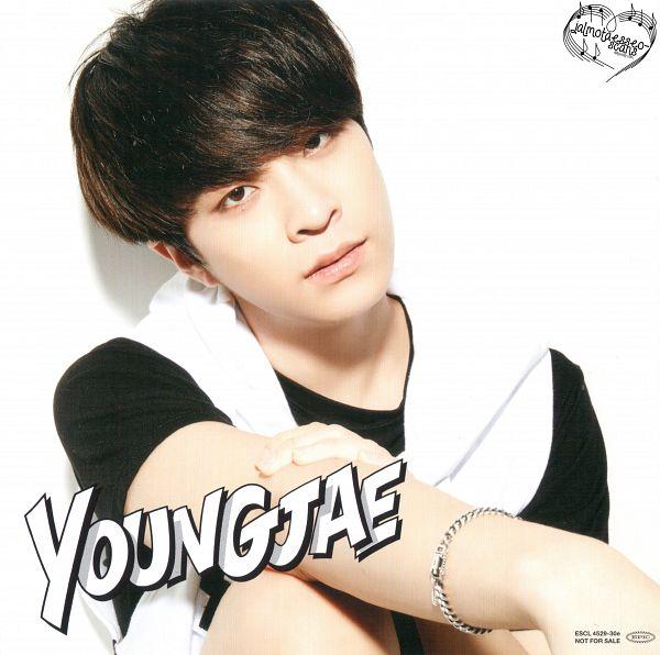 Tags: K-Pop, Got7, Laugh Laugh Laugh, Choi Youngjae, Bracelet, Short Sleeves, Text: Artist Name, Light Background, White Background