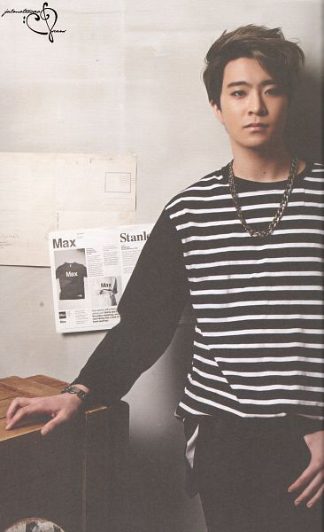Tags: K-Pop, Got7, Choi Youngjae, Black Pants, Necklace, Serious, Striped Shirt, Striped, Android/iPhone Wallpaper, GOT7 Summer Package, Scan