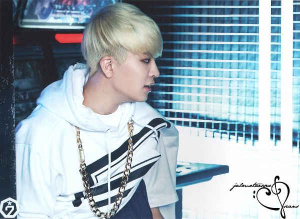 Tags: K-Pop, Got7, Choi Youngjae, Side View, Necklace, Looking Ahead, Hoodie, Blonde Hair, Identify, Wallpaper, Scan