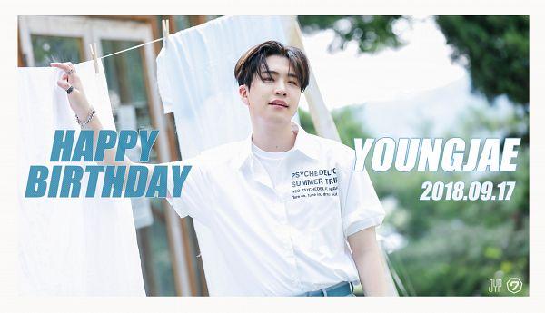 Tags: K-Pop, Got7, Choi Youngjae, Ring, Bracelet, Text: Calendar Date, Tree, Text: Artist Name, Plant, English Text, Present: You