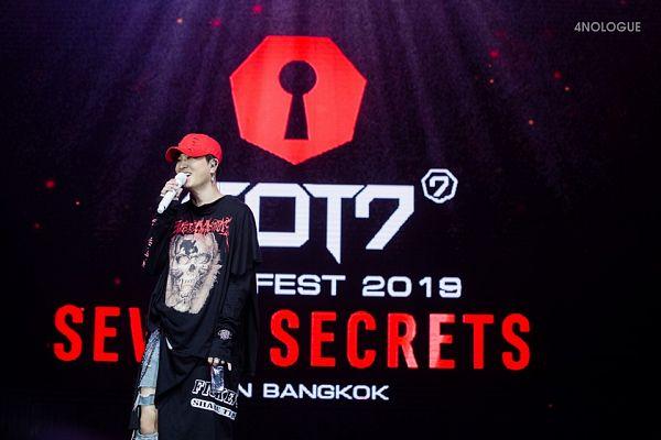 Tags: K-Pop, Got7, Choi Youngjae, English Text, Hat, Seven Secrets In Bangkok, Live Performance