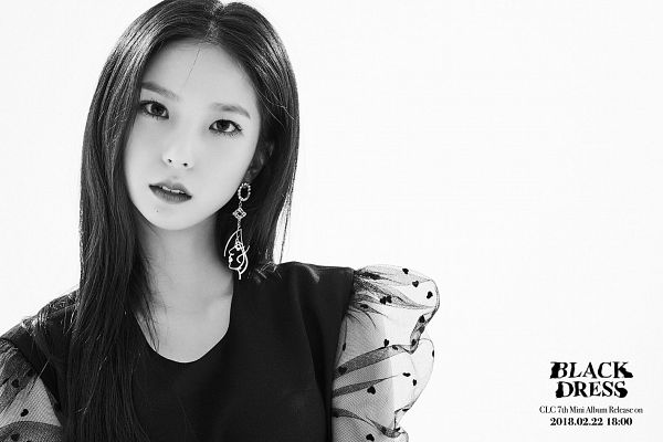 Tags: K-Pop, CLC (CrystaL Clear), Choi Yujin, Black Outfit, Black Dress