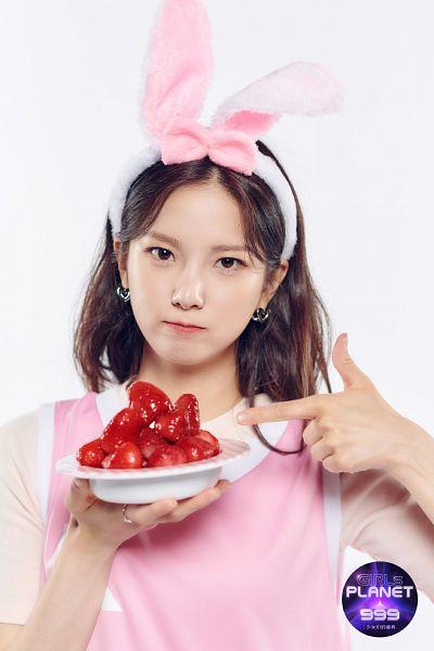 Tags: K-Pop, CLC (CrystaL Clear), Choi Yujin, Strawberry, Animal Ears, Fruits