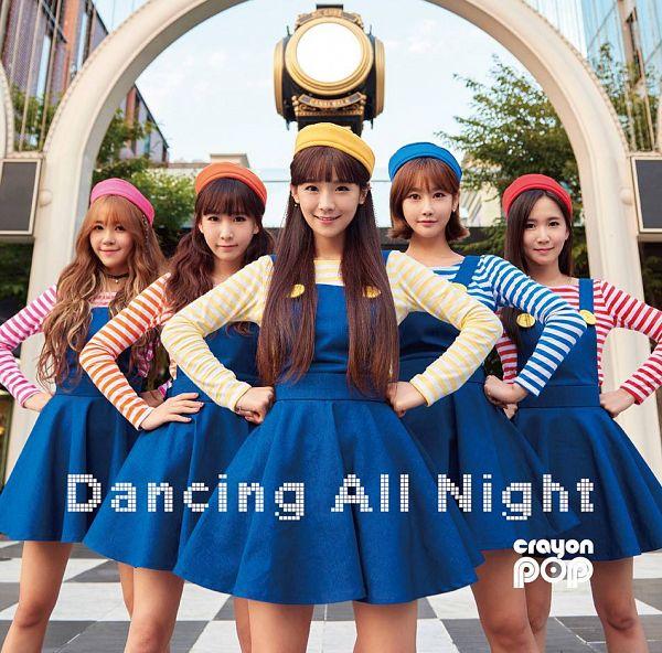 Tags: K-Pop, Strawberry Milk, Crayon Pop, Geummi, Soyul, Choa, Way, Ellin, Blue Dress, Red Shirt, Choker, Hand On Hip