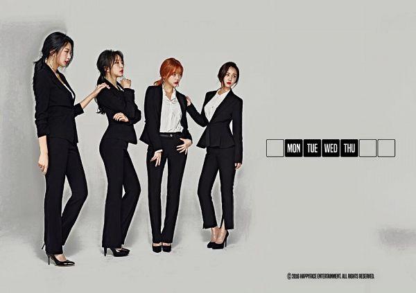 Tags: Happyface Entertainment, K-Pop, Dal Shabet, Bae Woo-hee, Ah Young, Park Subin, Serri, Fri Sat Sun (Album)