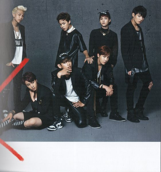 Tags: K-Pop, Bangtan Boys, Jungkook, Jin, V (Kim Taehyung), Rap Monster, Park Jimin, J-Hope, Suga, Black Shirt, Shorts, Black Outerwear